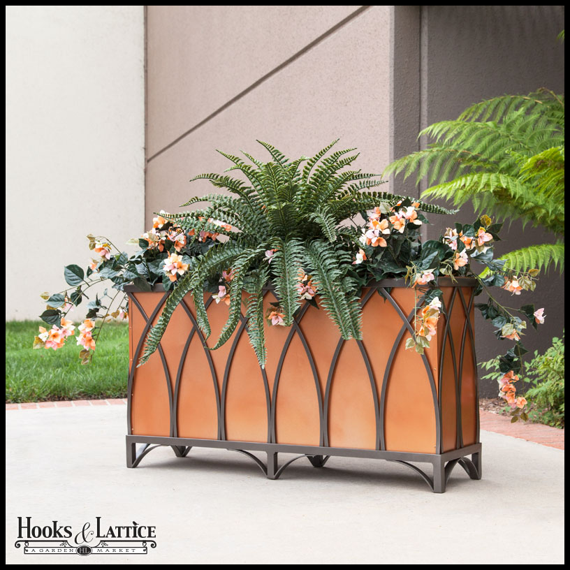Arch Wrought Iron Planters Outdoor
