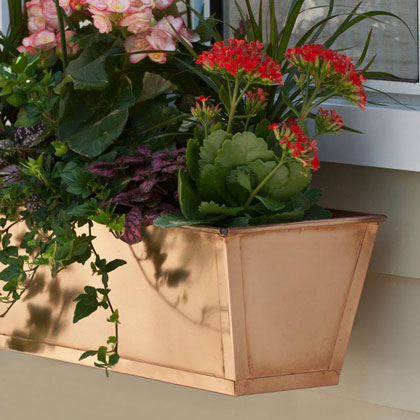 Copper & Bronze Window Boxes