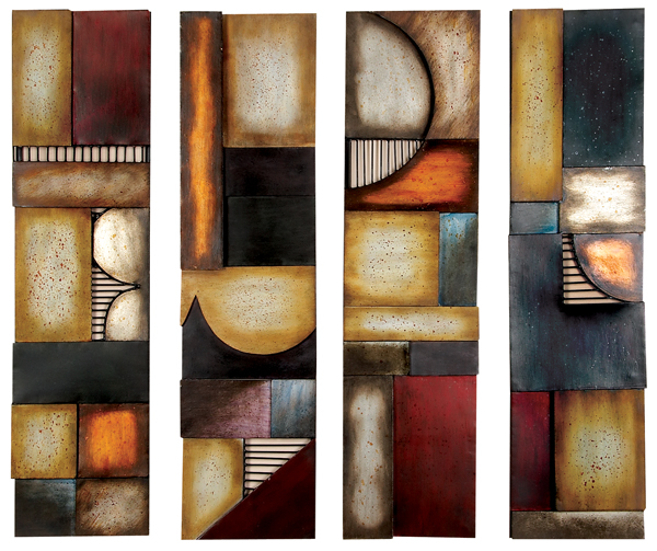 Contemporary Metal Wall Art Modern Decor Style