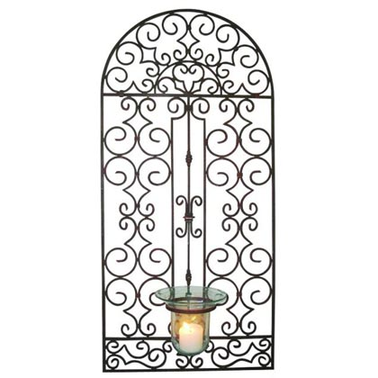 Outdoor Wrought Iron Wall Decor Art