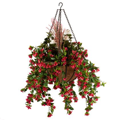 Artificial Hanging Plants in Baskets