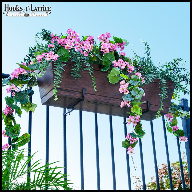 Deck Rail Planter Boxes Planters For Railings Hooks
