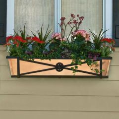 Medallion Decora Window Boxes With Metal Liners