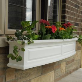 Presidential Window Boxes - White