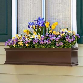 Bronze Laguna Fiberglass Window Boxes