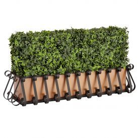 Outdoor Artificial Ivy Hedges in Metal Window Boxes