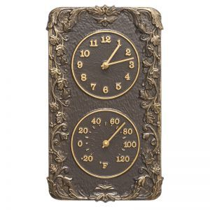 Acanthus Clock & Thermometer Combo