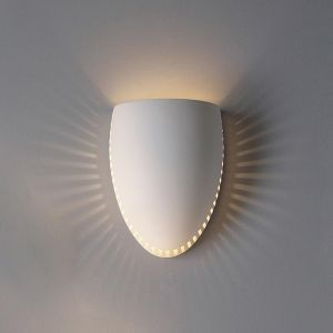 "10""  Egg Bottom Sconce w/ Fissure Pattern"