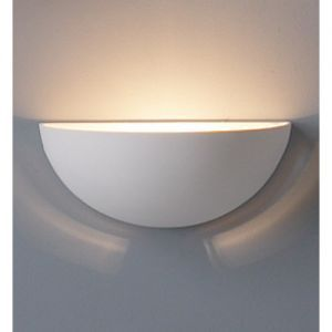 "12.5"" Clean Bowl Ceramic Wall Sconce"