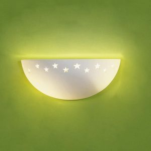 "12.5"" Ceramic Bowl Sconce w/ Star Border"