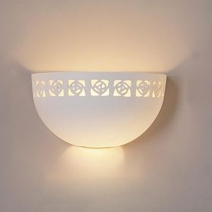 "12"" Deep Bowl Sconce w/ Abstract Light Vent Design"