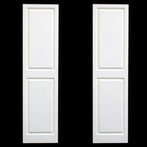 "12"" Wide Raised Panel Shutter  - with Two Equal Panels (Composite PVC - Pair)"