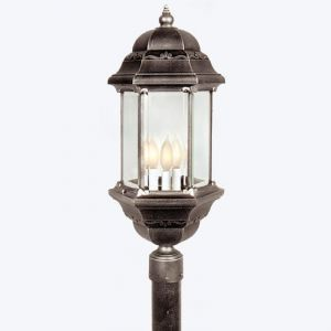 Brookhollow Line Voltage Post Mount Light Fixture