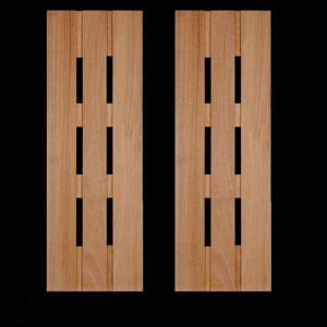 12in. Wide Abacab Design Cedar Exterior Shutter Pair