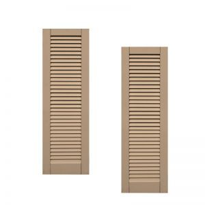 12in. Wide - Classic Collection  Wood & Resin Composite Louvered Shutters (pair)