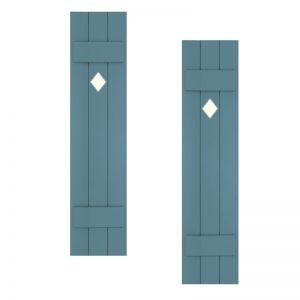 12in. Wide with 3 Boards - Classic Collection Composite Board & Batten Shutters (pair)