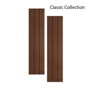 12in. Wide with 3 Boards - Classic Collection Composite Board & Batten V-Groove Shutters (pair)