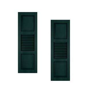 12in. Wide With Additional Panel - Architectural Collection Combination Composite Fiberglass Shutters (pair)