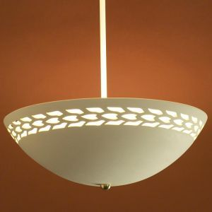 """13.5"""" Ceiling Light w/ Abstract Maize Border"""