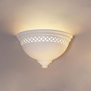 "14"" Deep Bowl Sconce w/ Classic Edges and Pattern"
