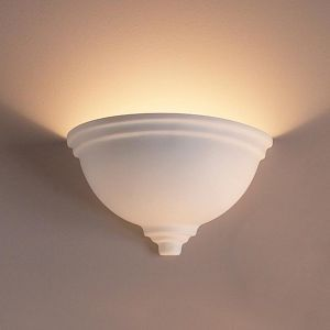 "14""  Deep Bowl Sconce w/ Tapered Ridges"