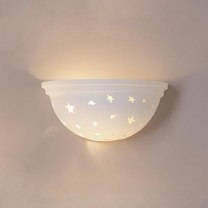 "14"" Scattered Star Bowl Sconce w/ Beveled Edging"