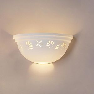 "14"" Seashell & Starfish Ceramic Bowl Sconce"