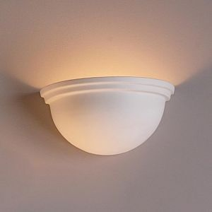 "14""  Simple Bowl Sconce w/ Double Edge Rim"