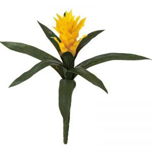 14in. Artificial Guzmania Bromeliad - Outdoor - Yellow