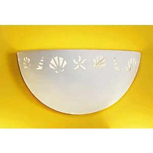 "15.5"" Coastal & Seashore Bordered Clean Bowl Sconce"