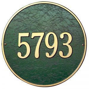 15in. Round Estate Address Plaque