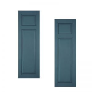 15in. Wide Classic Collection Raised 2 Unequal Panel Shutters (pair)