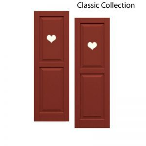 15in. Wide - Designer Collection Raised Two Equal Panel Classic Collection Composite Exterior Shutters (pair)
