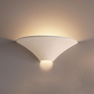 "17.5""  Large Funnel Ceramic Sconce"