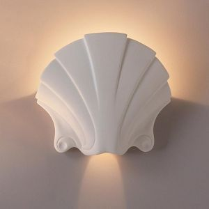 "17""  Seashell Themed Sconce"