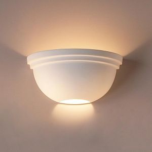 "17""  Simple Bowl Sconce w/ Double Edge Rim"