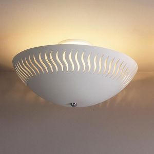 "18"" Ceramic Ceiling Light w/ Dancing Lines"