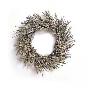 18in. Pussy Willow Wreath