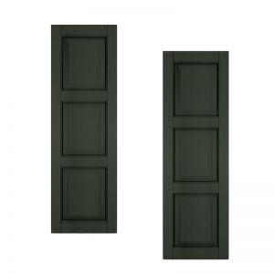 18in. Wide - Architectural Collection Raised 3 Equal Panel Shutters (pair)