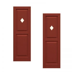 18in. Wide - Designer Collection Raised Two Equal Panel Classic Collection Composite Exterior Shutters (pair)