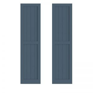 12in. Wide - Painted Cedar V-Groove Flat Panel Design Exterior Shutters (Pair)