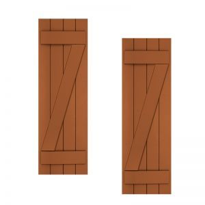 18in. Wide with 3 Boards and Z-Bar - Classic Collection Composite Board & Batten Shutters (pair)