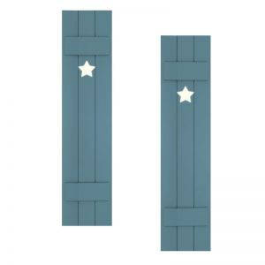 18in. Wide with 3 Boards - Classic Collection Composite Board & Batten Shutters (pair)