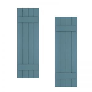 18in. Wide with 4 Boards - Classic Collection Composite Board & Batten Shutters (pair)