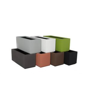 Malabar Tall Rectangular Planter with Toe Kick-Choose from 7 Colors