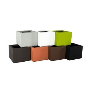 Malaga Square Planter with Toe Kick-Choose from 7 Colors