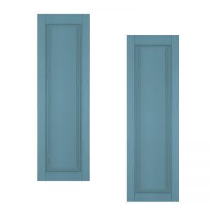 21in. Wide - Architectural Collection Raised Single Panel Shutters (pair)