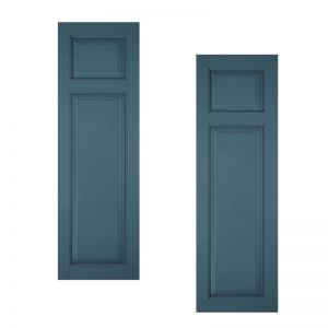 21in. Architectural Collection Raised 2 Unequal Panel Shutters (pair)