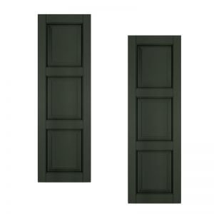 21in. Wide - Architectural Collection Raised 3 Equal Panel Shutters (pair)