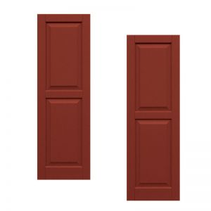 21in. Wide - Classic Collection Two Equal Raised Panel Shutters (pair)